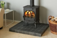 a1-Huntingdon-25-in-Matt-Black-with-Riven-Slate-Tiled-Hearth